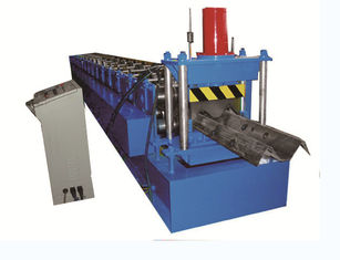 China 2 Wave Highway Guardrail Roll Forming Machine 2.7 3.0mm Thick Hydraulic Decoiler factory