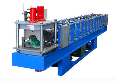 14 Station Steel Roof Ridge Cap Forming Machine 4-5 Meters Per Minute Output