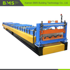 China Dovetail Style Metal Floor Decking Roll Making Machine For Construction PLC Control factory