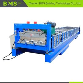 China 0.8-1.5mm Floor Deck Roll Forming Machine , Metal Building Material Roll Former factory
