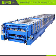 China Aluminum Floor Deck Roll Forming Making Machine with Manual / Hydraulic Decoiler factory