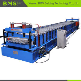 China ISO9001 CE SGS Metal Deck Forming Machine , Floor Tile Making Machine 5.5kw+3kw factory