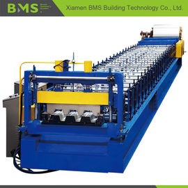 China PLC Control Metal Steel Roll Forming Equipment for Floor Decking 12-15m/min factory