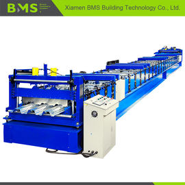 China Steel Floor Decking Forming Machine PLC Control System For Construction factory