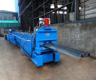 China Galvanized W Beam Highway Guardrail Beam Roll Forming Machine Hydraulic Decoiler factory