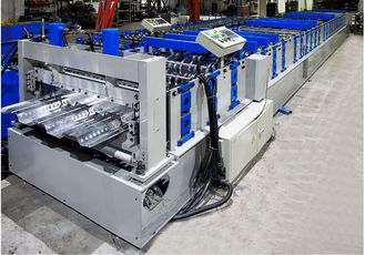 China Metal Deck Roll Forming Machine , Floor Tiles Manufacturing Machines Fully Auto factory