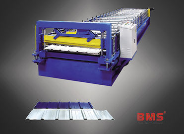China MS27-200-1000 Type Wall Matal Panel Roll Forming Machine For 0.3~0.8mm Thickness factory