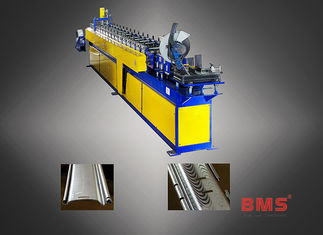China Stainless Steel Roller Shutter Door Roll Forming Machine Curved Slat Sawing Type factory