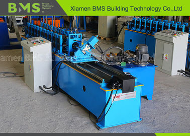 High Speed C Purlin Sheet Roll Forming Machine With Fly Cutting And PLC Cabinet