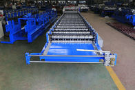 Metal Glazed Roof Tile Roll Forming Machine With High Production Speed