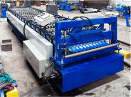 China Steel Corrugated Roof Panel Roll Forming Machine 16 / 18 Steps CE Approval factory