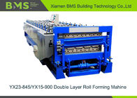 High Speed PPGI Roll Forming Equipment Double Wall Panel Manufacturing
