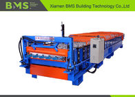 China Roof Sheeting Steel Roof Tile Roof Panel Roll Forming Machine Plc Control System factory