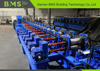 Galvanized Steel Highway Guardrail Roll Forming Machine , Metal Forming Machinery