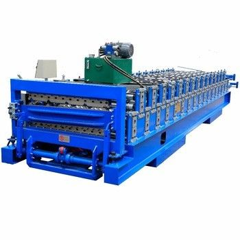 Roof Panel Double Layer Roll Forming Machine For Thickness 0.3-0.8mm Material