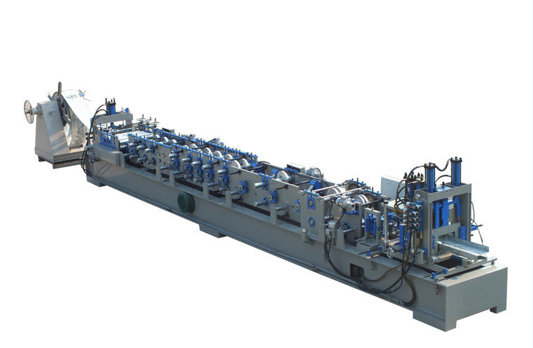 Steel Frame CZ Purlin Roll Forming Machine Low Noise PLC Computer Controlled supplier