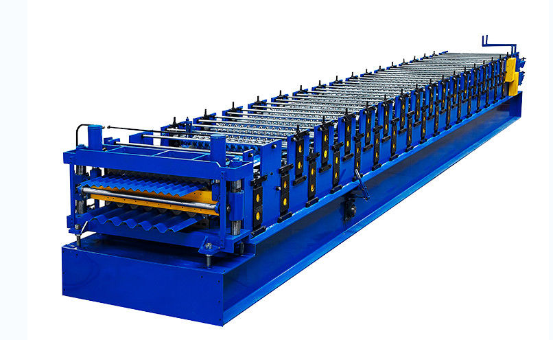 PLC Control Double Layer Roof Panel Roll Forming Machine Easy operation