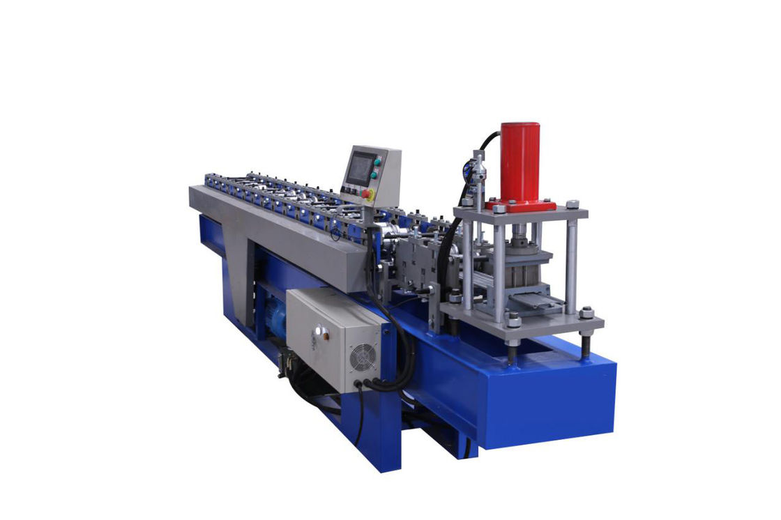 0.7-1.2mm Thickness Roller Shutter Door Roll Forming Machine 14 Forming Station