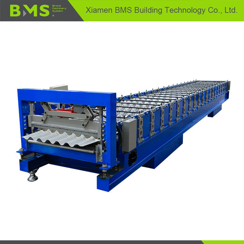 Stable Corrugated Roof Sheet Making Machine , Roof Panel Roll Forming Machine