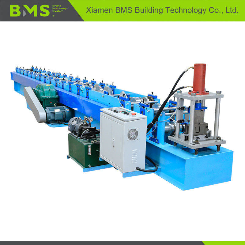 U Shape Cold Roll Forming Machine , 12-15m/min Metal Roll Forming Machine