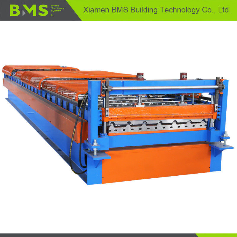 Metal Roof Panel Roll Forming Machine , Roof Panel Making Machine 12-15m/min  supplier