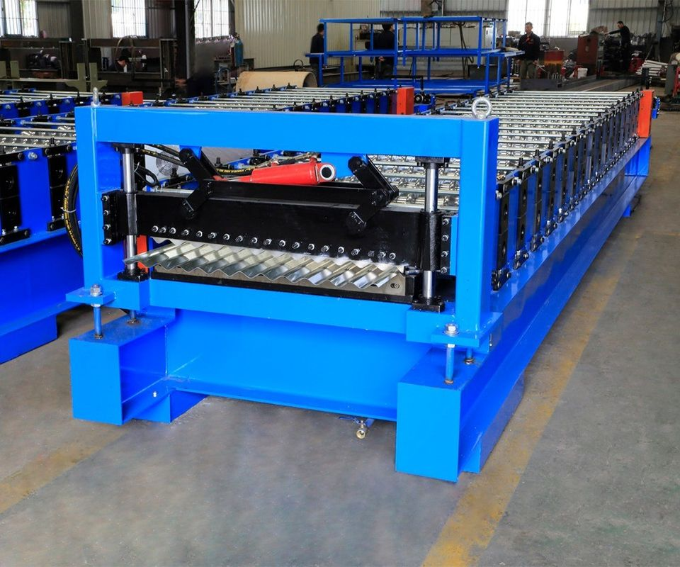 Corrugated Steel Panel Roll Forming Machine , Steel Frame Roll Former 12-18m/Min