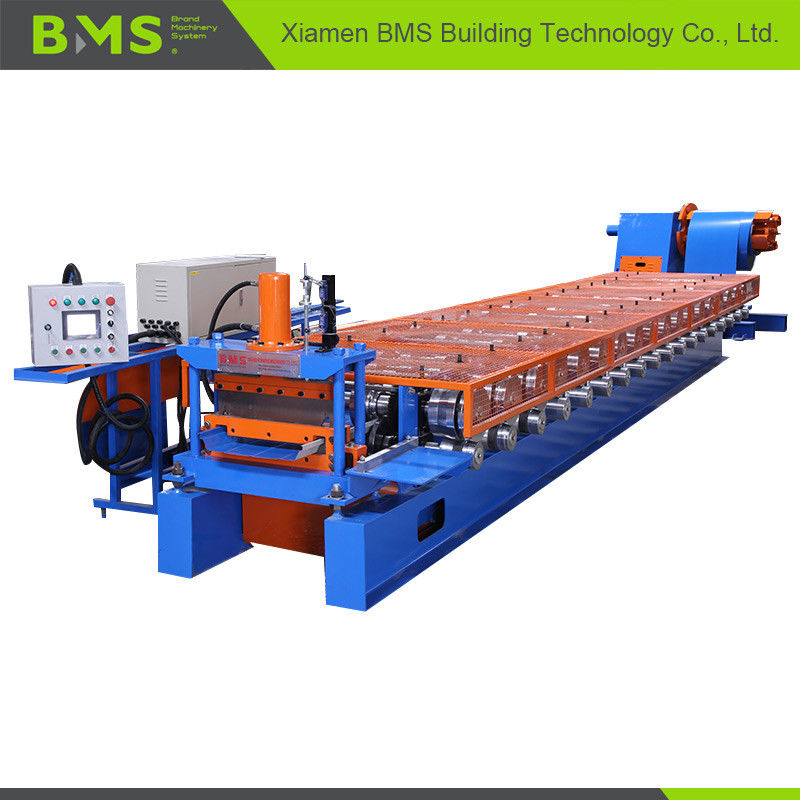 12-15m/Min Klip Lok Roof Panel Roll Forming Machine Touching Screen Control supplier