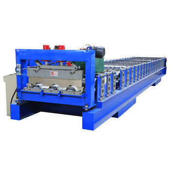 Steel Structure Floor Deck Roll Forming Machine for Building Material 22 Stations