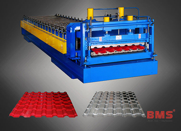 Aluminum Roof Panel Roll Forming Machine Metal Roof Tile Making Low Noise
