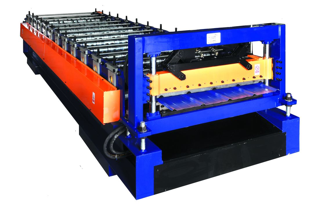 Small Type Roof Panel Roll Forming Machine, Galvanized Sheet Metal Roof Making Machine supplier
