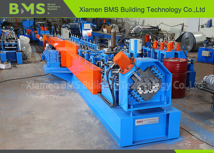BMS Embossing Full Automatic C Purlin Forming Machine With Punching Hole