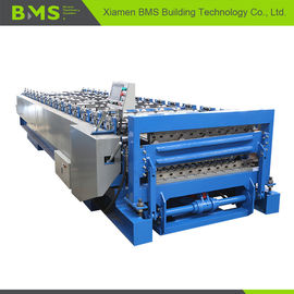 Stable Double Layer Roll Forming Machine , Metal Roof Panel Roll Forming Line