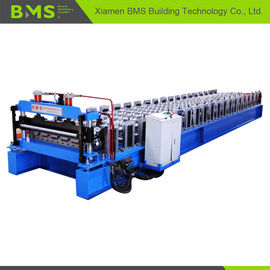 China Automatic Color Steel Roof Panel Roll Forming Machine 12-15 Meters Per Minute factory