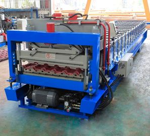 China Metal Glazed Roof Tile Roll Forming Machine With High Production Speed factory