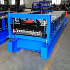 Profile Corrugated Roof Roll Forming Machine , Panel Corrugated Roller Machine