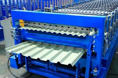 12-15m/Min Double Layer Roll Forming Machine , Metal Roofing Panel Roll Former