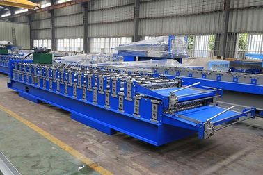 Roof Panel Double Layer Roll Forming Machine , Roof Tile Manufacturing Machine