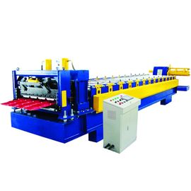 China 0.5-0.8mm Metal Glazed Roof Tile Making Machine , Roof Tile Roll Forming Machine factory