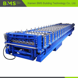 Corrugated Roof Roll Forming Machine , Corrugated Roof Iron Sheet Making Machine