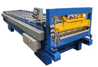 Metal Roof Panel Cold Roll Forming Machine / Corrugated Roll Former Fully Automatic