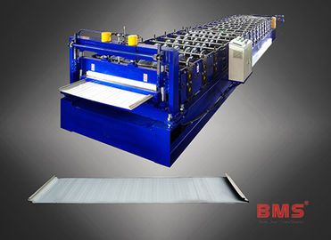 Steel Roof Panel Roll Forming Machine , High Speed Metal Roofing Machine