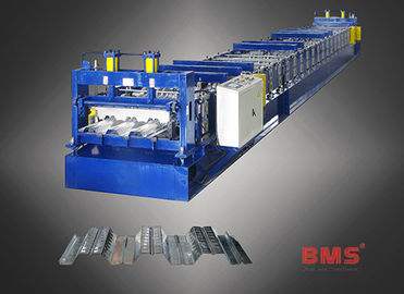 China Q235 Color Steel Floor Deck Roll Forming Machine With Hydraulic Cutting System factory
