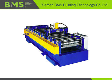 China 600A Type Steel Bar Truss Plate Bottom Sheet Metal Roll Forming Machines With High Speed factory