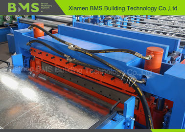 PPGI / GI Double Steel Deck Roll Forming Machine With Bearing Steel GCr15 Rollers