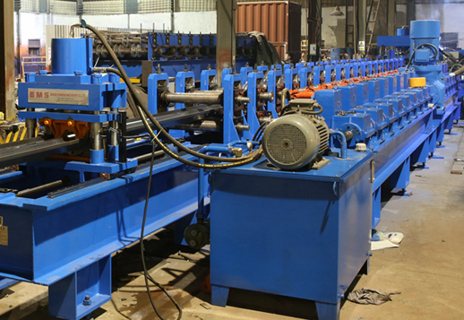 Gear Box And Gimbal Driving Guardrail Roll Forming Machine PLC Control 4